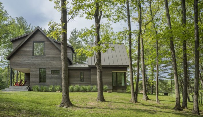 This Sunlit Home in a Wooded Knoll Fosters Well-Being and Delight